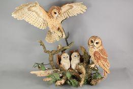 Country Artists Sculpture - The Owls Oak