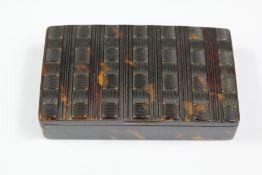 19th Century Pressed Tortoiseshell Snuff Box