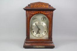 A Mahogany Cased Bracket Clock