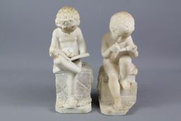 A Pair of Marble Figurines