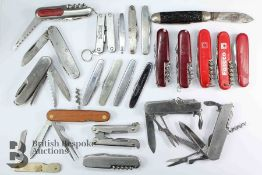 Collection of Assorted Pen Knives