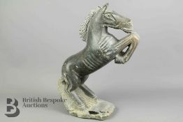 Carved Stone Horse