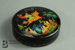 Russian Wood Lacquer Fairytale Box