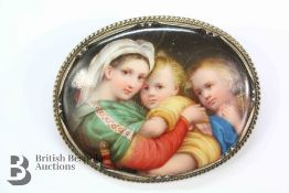 Late 19th Century Porcelain Brooch