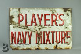 Vintage Enamel Player's Navy Mixture Sign