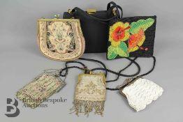 Six Vintage Lady's Handbags