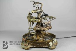 Bronze Creations of the Earth Table Fountain