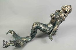 Cast Metal Mermaid