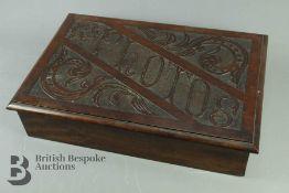An Early 20th Century Mahogany Photo Box
