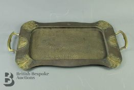 Brass Arts and Crafts Tray