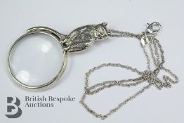 Silver Magnifying Glass