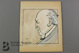 Henry James - Pen and Wash Caricature
