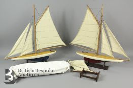Authentic Models Two Mini Pond Yachts with a Madeira Y6 AS140F Boat Kit