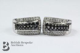 Pair of 18ct White Gold Diamond Earrings