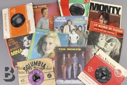 Quantity of Foreign 45 rpm Records