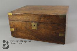 A Victorian Mahogany Writing Box