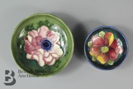 Two Moorcroft Dishes
