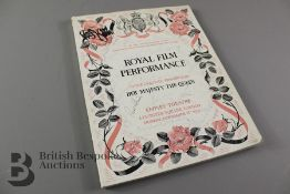 Circa 1954 Royal Film Performance Souvenir Programme
