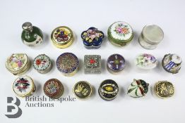 Quantity of Enamel and Other Pill Boxes