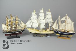 Three Small Model Ships