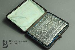 Silver Victorian Card Case