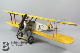 An Authentic Models Sopwith Camel Biplane Model