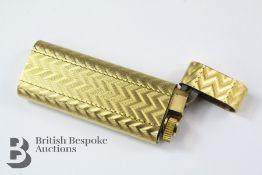 An 18k Plated Gold Cartier Lighter