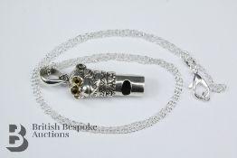 Silver Pendant Whistle