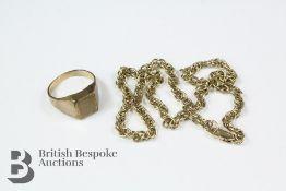 Gentleman's 9ct Gold Signet Ring