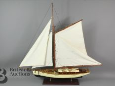 A Large Classic Yacht Model Sailboat