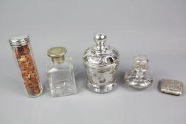 Four Vanity Jars
