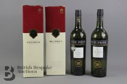 Two Bottle of Bollinger Champagne and Two Tio Pepe Sherry