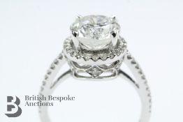 14 Ct Diamond Halo Engagement Ring