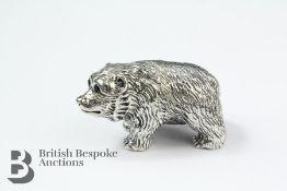 Cast Silver Bear