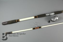 Two Vintage Fenwick Sea Rod and Vintage Bache Brown Spinster