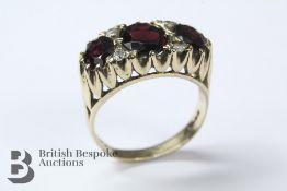 9ct Yellow Gold Garnet Ring