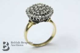 Lady's 18ct Yellow and White Gold Diamond Ring