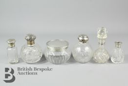 Miscellaneous Silver and Cut-Glass Perfume Bottles