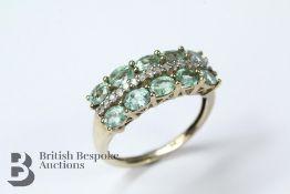 9ct Yellow Gold Green Apatite Ring