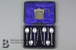 Six Silver Teaspoons in Box