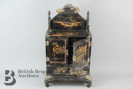 Small Japanned Cabinet