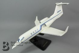 A Gates Learjet Model Aircraft