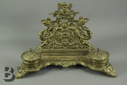 Antique Brevettato Brass Letter Holder