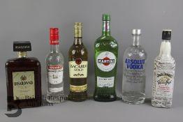 Six Bottles of Alcohol