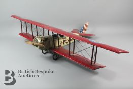 A Large 'Flying Circus' Model Biplane