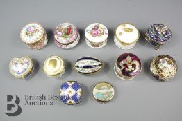 Quantity of Enamel and other Trinket Boxes