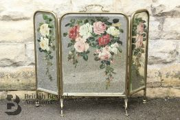Early 20th Century Painted Mirrored Firescreen