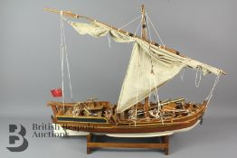A Large Sail Boat Model