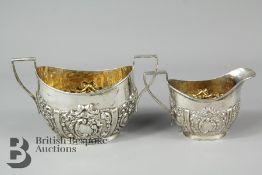 Edward VII Sugar Bowl and Creamer