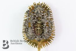 Rare and Usual Orthodox Religious Reliquary